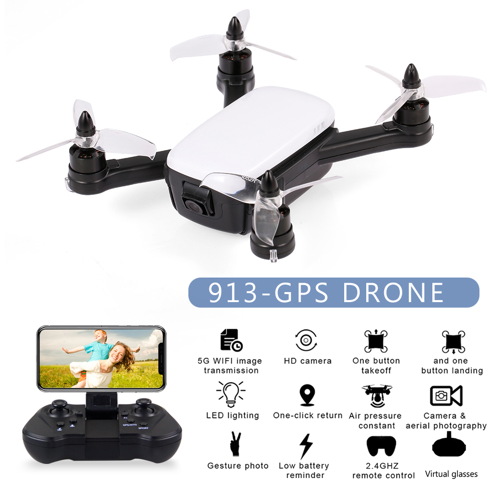 RC Dron 913 GPS 5G WiFi FPV With 1080P Camera Brushless Quadcopter 13mins Flight Time Gesture