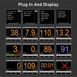 Image 2 - Автомобильный бортовой датчик, цифровой измеритель температуры, со спидометром, OBD2 портом