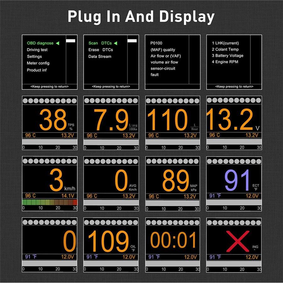 Image 2 - Automobile Trip On board Digital Gauge OBD2 Port Driving Display Speedometer Temperature Gauge