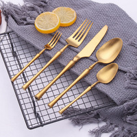 2019 New Gold Cutlery Set Spoons Forks And Knives 18/10 Stainless Steel Western Kitchen Food Tableware Dinner Set Dropshipping