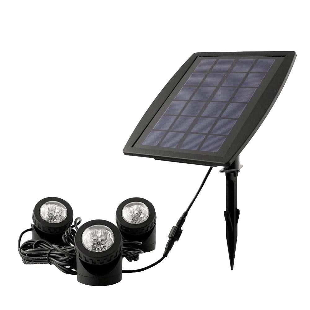 Radient 160lm 18 Leds Solar Powered 3 Lampen Landschaft Scheinwerfer Projektion Licht Für Garten Pool Fischteich Im Freien Beleuchtung Unterwasser Licht GroßE Auswahl; Rasen Lampen