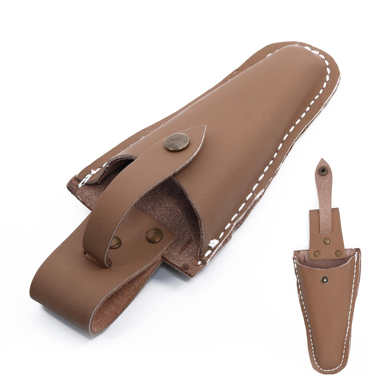 High Quality Scissors Storage Bag Portable Garden Tools Bag Holder Case Light Brown Durable Leather Pruning Scissors Tool Bag