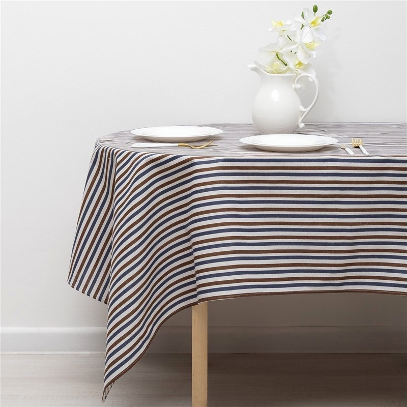 Tablecloth Доляна 145х145см, Strip Xing-is black, 100% PE, рогожка 200 C/M 3580642