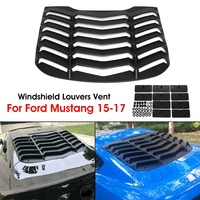Car Rear Window Louver Air Vent Sun Visor Window Sunshade Cover for Ford/Mustang 2015 2017