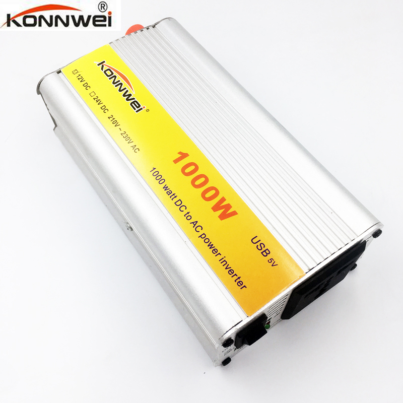 Professional 1000 W Car Inverter DC 12 V to AC 220 V Power Inverter Charger Transformer Vehicle Power Inverter Power Switch image