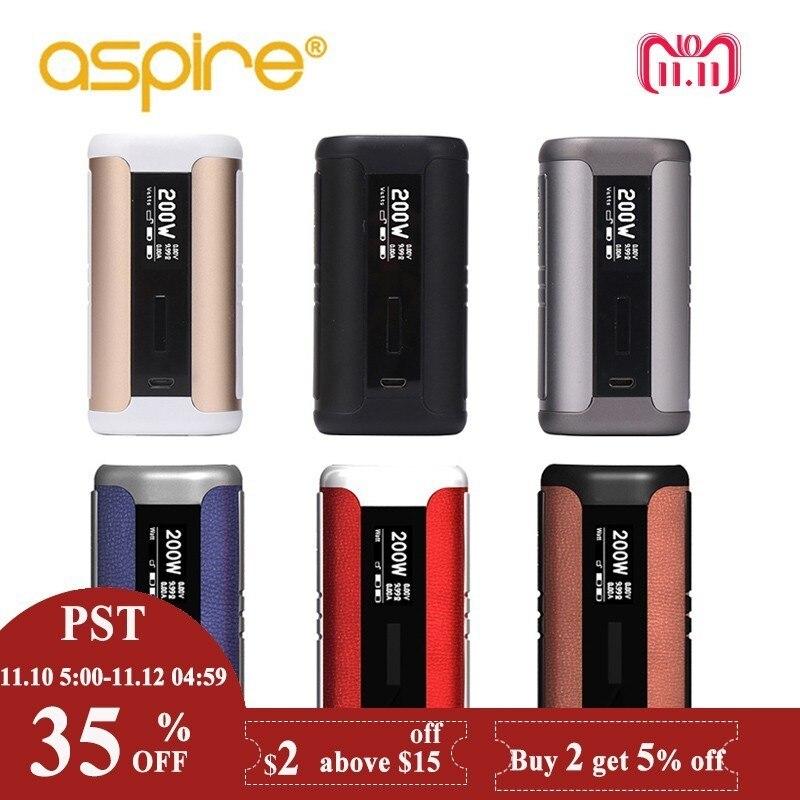 Электронные сигареты моды Aspire Спидер 200 Вт поле Mod Vape Fit Афон Танк 510 нитки без 18650 батарея электронных сигарет