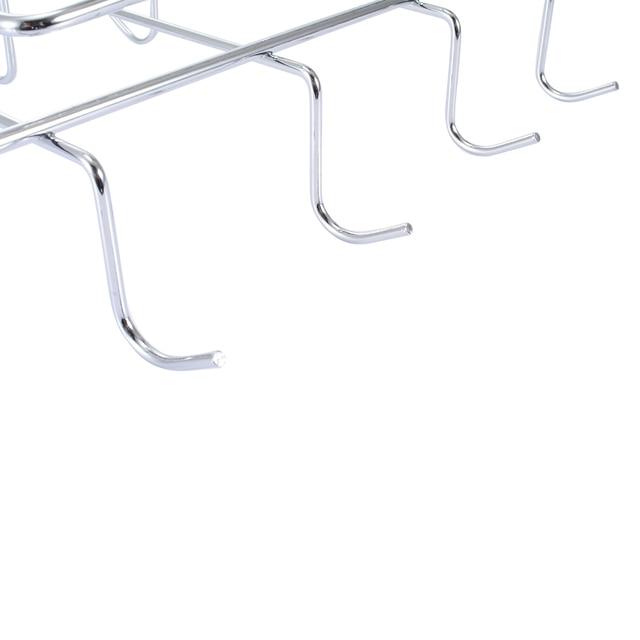 Porte-verre à vin en acier inoxydable | 1 pièces 10 crochet porte-verre à vin, tasse en argent support de suspension pour louverture de tasses de café, organisateur de cuisine