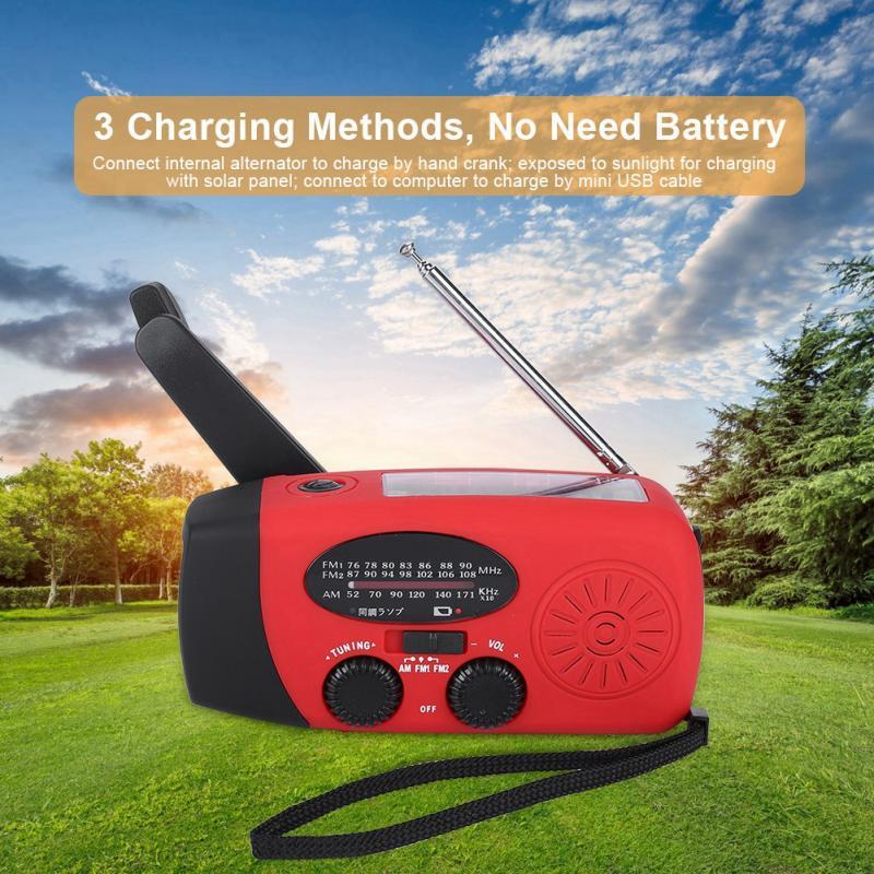 Unterhaltungselektronik Hand Kurbel Am/fm/noaa Handy Ladegerät Radio Mit Taschenlampe Notfall Verwenden
