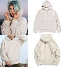dc80c3b7e8ff Unisex Men Woman Fashion Fur Lined Winter Hoodie Jacket Thick Hoodie Fleece Hooded  Coat
