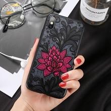 KISSCASE Flower Case For Huawei P Smart Plus Nova 3i Mate 20 Lite Sexy 3D Embossed Lace P8 2017 P20 Pro P10