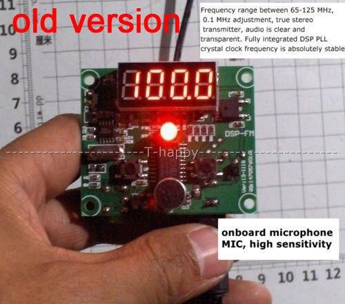 DSP FM טכנולוגיה FM רדיו משדר מודול דיגיטלי LED תצוגת FM תדר 65MHz 125MHz עבור אלחוטי אודיו קול 12V 24V