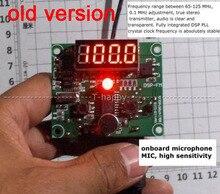 DSP FM frequência 65mhz 125mhz do diodo emissor de luz de digitas da indicação fm do módulo do transmissor de rádio de fm da tecnologia para o som audio sem fio 12v 24v