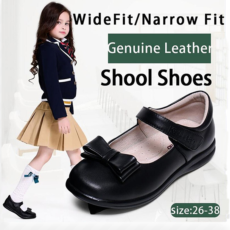 KALUPAO Children School Uniform Shoes Girls Dress Shoes bowtie Black Leather shoes Pretty Comfortable For Kid Girls Shoes велосипед kross kid pretty 16 2015