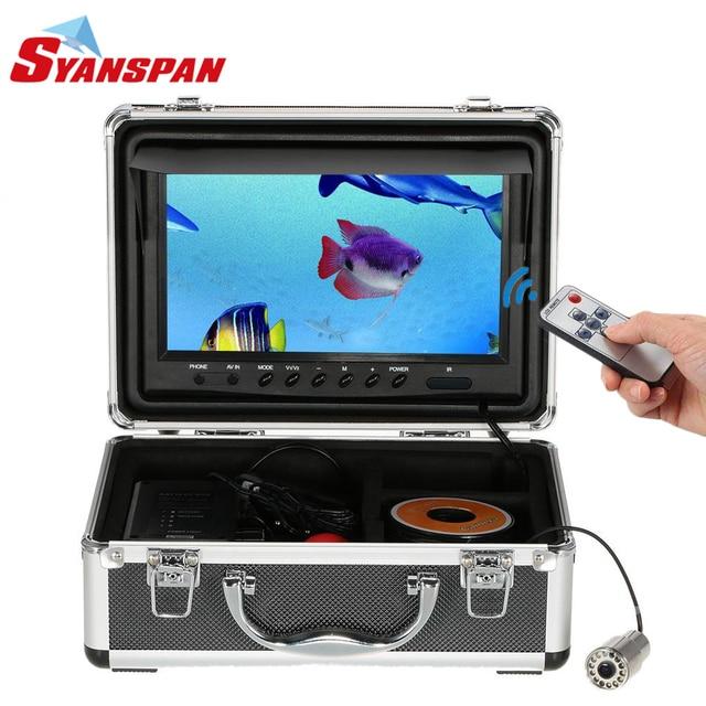"SYANSPAN صياد السمك المحمولة تحت الماء كاميرا فيديو الصيد 9 ""TFT شاشات كريستال بلورية ، IP68 HD 1000TVL ، ليلة النسخة الجليد/بحيرة الصيد"