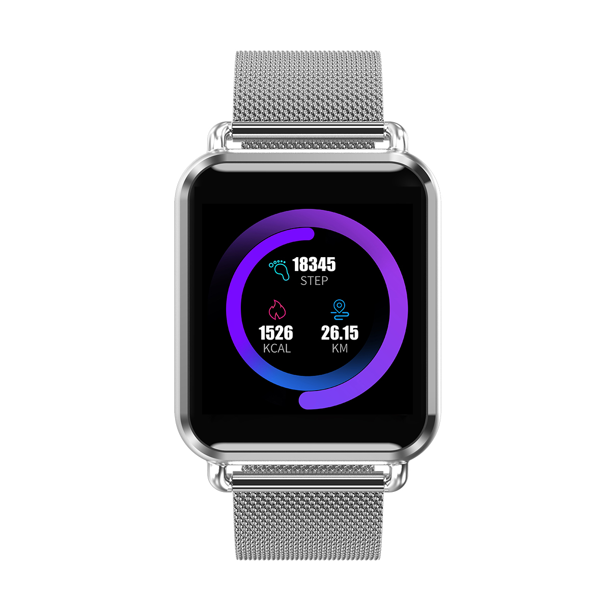 Updated Newwear Q3 Plus Smart Watch 1 3 Inch Men Women HR Blood Pressure Monitor Waterproof Sport Fitness Tracker Smartwatch in Smart Watches from Consumer Electronics