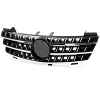 1x Car Front Bumper Mesh Upper Grille Grill Racing Grille For Mercedes For Benz ML Class W164 ML320 ML350 ML550 2005 2008