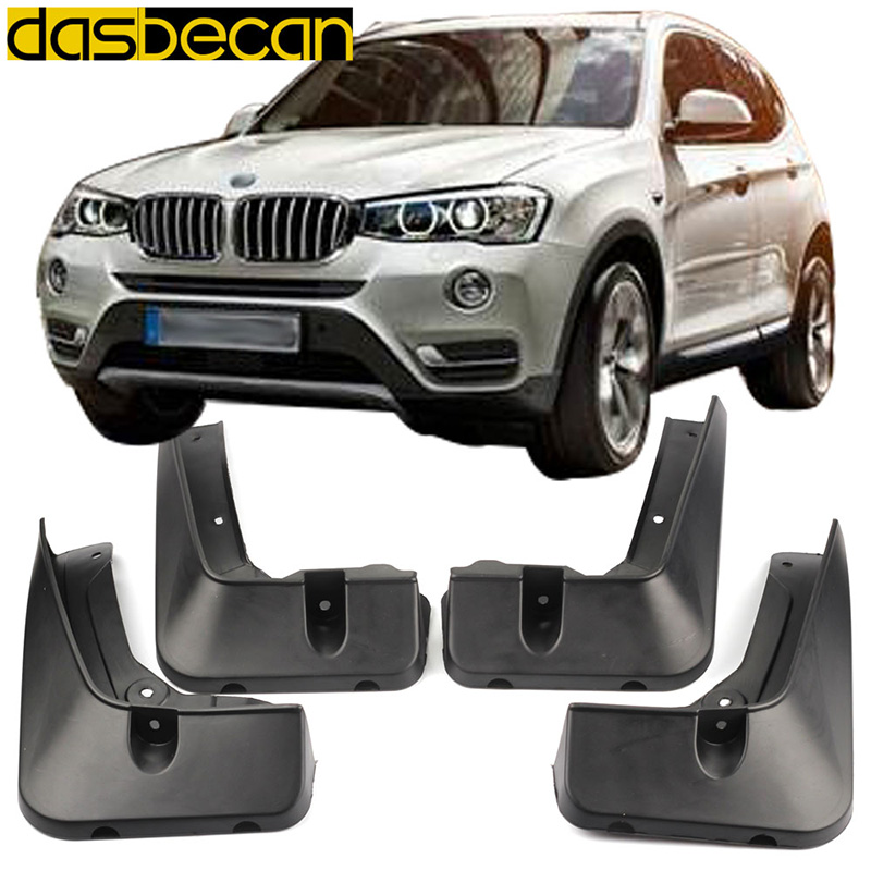 Dasbecan Car Mudguards For BMW X3 F25 2014 2017 Fender Accessories Splash Guard Paneling 2015 2016