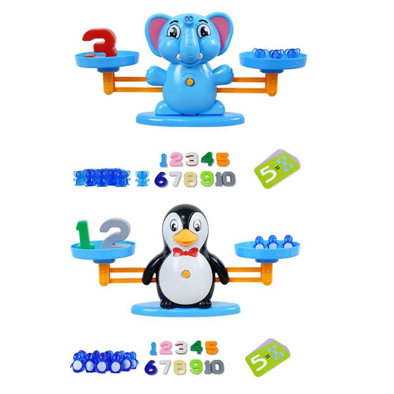 Math Balancing Scale Number Balance Board Game Animal Figure Learning Education Baby Preschool Toys