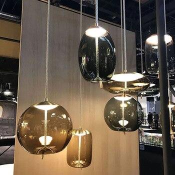 Ō�欧コニャック色ガラスペンダントランプリビングルームレストラン寝室キッチン器具飾るぶら下げランプ照明器具照明
