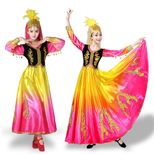 2019 New Chinese Folk Dance Costumes for Women Dress Perform