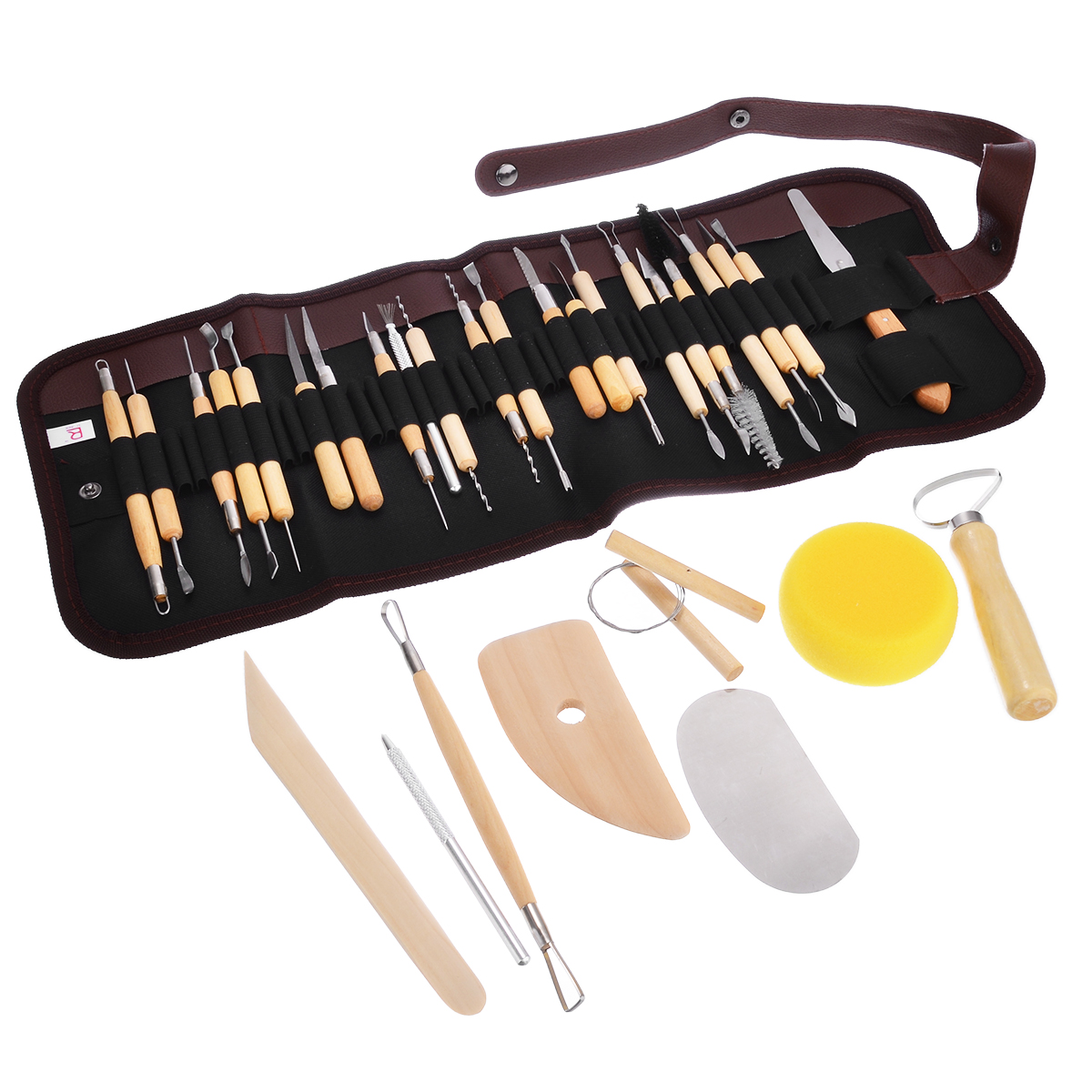 Home & Garden 19pcs Clay Sculpting Sculpt Smoothing Wax Carving Pottery Ceramic Tools Wood Handle Set Xhc88 Last Style