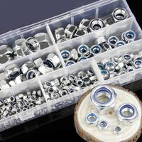 M5 M16 Galvanized Nylon Nut Locknut Anti drop Hex Nut Hexagon Screws Kit