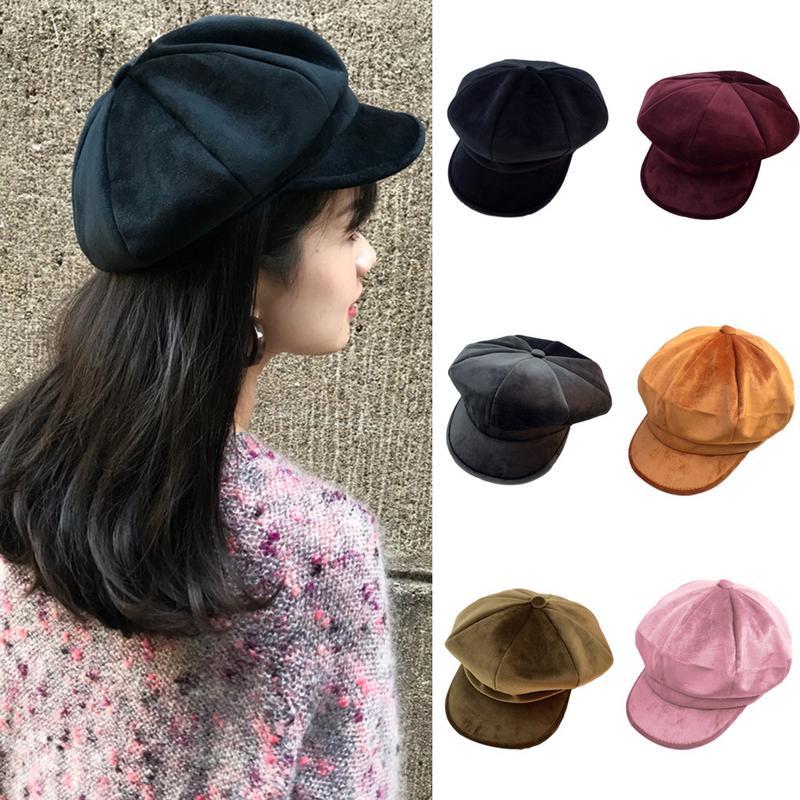 Billiger Preis 2018 Neue Marke Baskenmütze Männer Frauen Berets Outdoor Maler Hut Ins Mode Achteckigen Hut Europäischen Und Amerikanischen Warme Kappe Kopfbedeckungen Für Herren