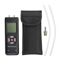 Handheld Digital Manometer Portable Pressure Gauge LCD Screen Air Gas Pressure Meter Tester Measuring Tools Kit Pouch Backlight