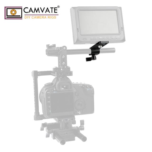 Extensão de camvate cheeseplate com padrão 15mm única haste braçadeira para lanterna led/monitor/microfone/led luz de montagem