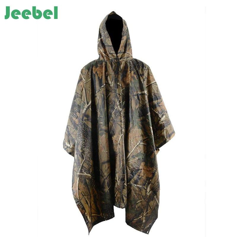 Multifunctional Military Impermeable Camo Raincoat Waterproof Rain Cover Outwear