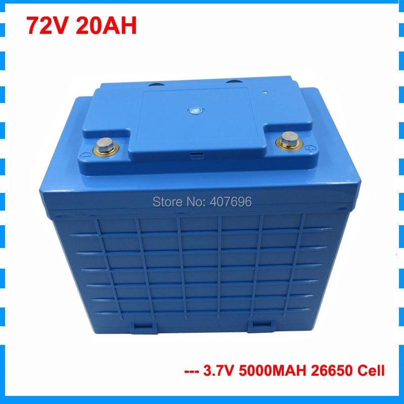2000W 72V 20AH Lithium ion Battery 72Volt font b Electric b font font b bicycle b