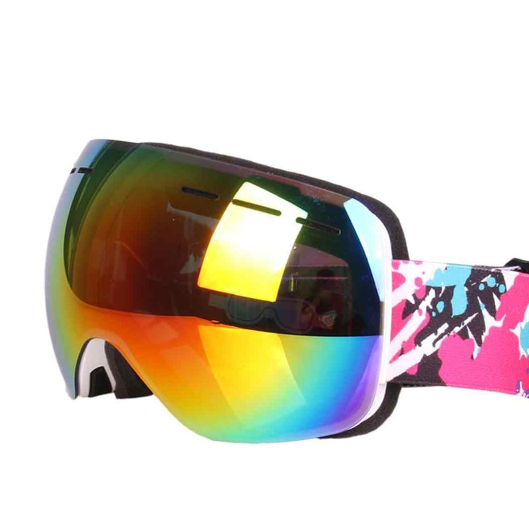 27fe2825f39 Pro Bicycle Riding Glasses Ski Goggles Men Women Double Layers Anti-fog  Sandproof Winter Skiing