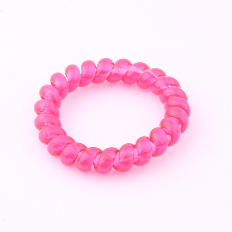 Fluorescent Color Telephone Hair Ring For Girls Transparent Silicone Hair Bands Kids Hair Tie Spiral Elastic Hair Accessories in Hair Accessories from Mother Kids