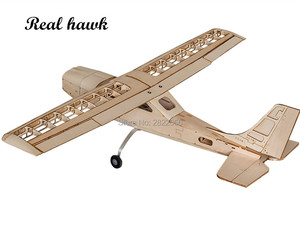 Image 2 - RC AirPlanes Laser Cut Balsa Wood Airplane Kit Cessna 150 Frame without Cover Wingspan 960mm Model Building Kit Woodiness model