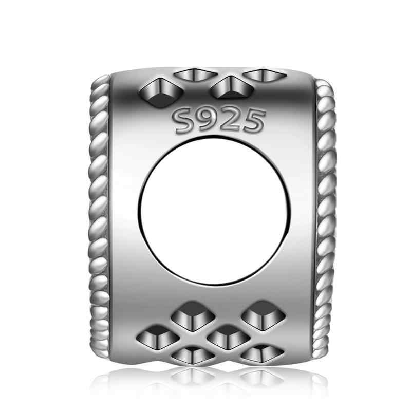 Jiayiqi Authentic 925 Sterling Silver Adorável Autêntica Do Encanto Do Coração Beads Fit Pulseira Pingente DIY Fazer Jóias Presentes Mulheres