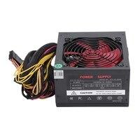 170 260V Max 650W Power Supply Psu Pfc Red 12Cm Silent Fan 24Pin 12V Pc Computer Sata Gaming Pc Power Supply For Intel Amd Com