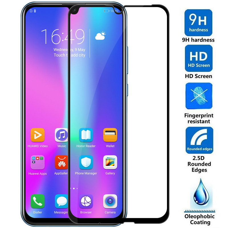 Image 2 - Full Cover Protective Glass On Honor 10 lite light Screen Protector Glass for huawei honor 10 life honer 10lite Tempered Glass-in Phone Screen Protectors from Cellphones & Telecommunications