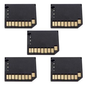 10pcs/lot  5pcs Micro SD TF to SD Card Kit Mini Adaptor Low Profile for Extra Storage Macbook Air / Pro / Retina Black