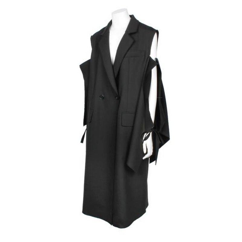 Nouveauté Col Décontracté Poches Femmes Kb514 deat Dame Creux De Mode Costumes Double D'été Manches Black Boutonnage down 2019 Turn q7wC7zBnE
