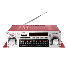 Kentiger Hy 602 Mini Portable Hifi Stereo Power Digital Amplifier With Fm Ir Control Fm Mp3 Usb Playback With Four Dsp