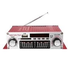 Kentiger Hy 602 Mini taşınabilir Hifi Stereo güç dijital amplifikatör Fm IR kumanda Fm Mp3 Usb oynatma dört Dsp