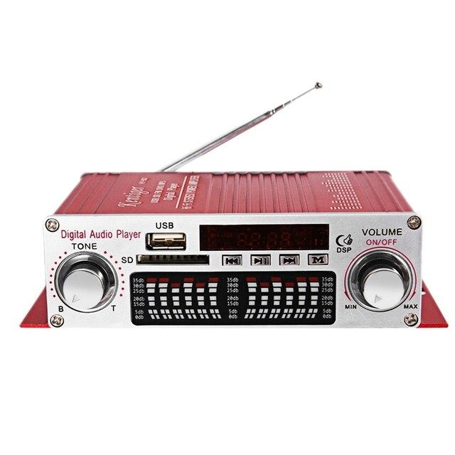 Mini amplificador Digital portátil Kentiger Hy 602, potencia de estéreo Hifi, con Control Fm, Ir, Fm, Mp3, Usb, reproducción con cuatro Dsp