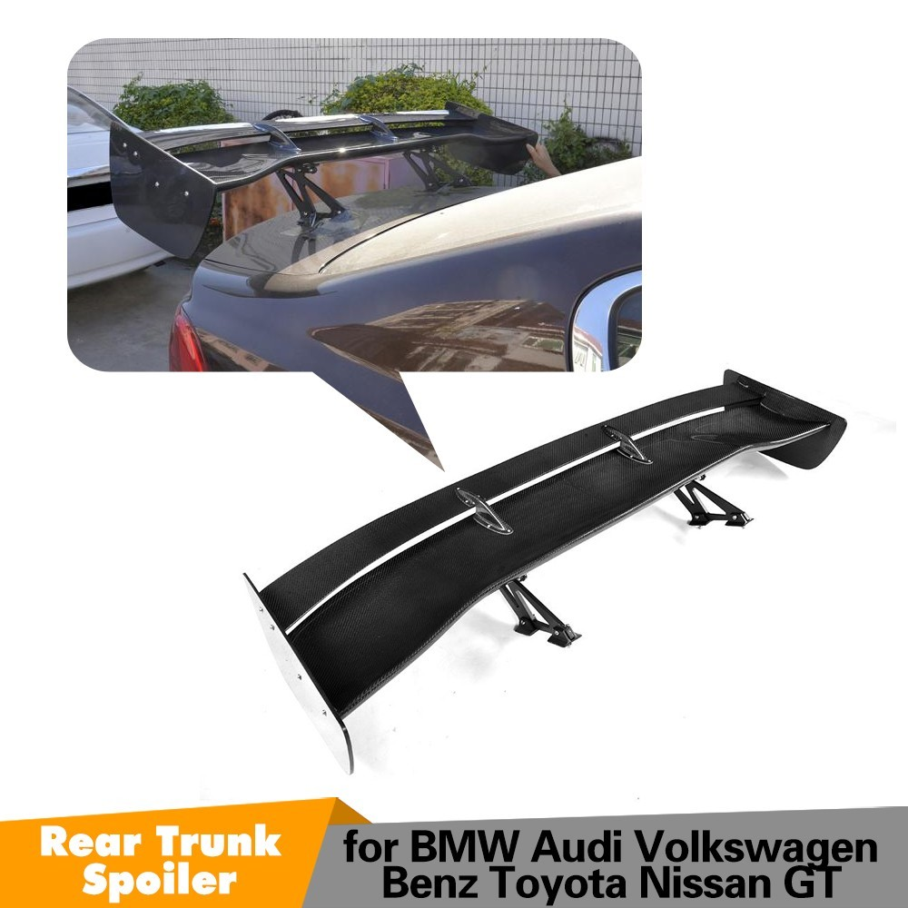 Extérieur fibre de Carbone Modifié Arrière Spoiler Queue Tronc Lip Wing Décoration idéal pour BMW M1 M3 M4 M5 M6 FOU GT spoiler style de voiture