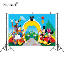 Thin Vinyl Minnie Park Garden Donald Duck  children kids Photography Background professional indoor studio Photo Backdrops
