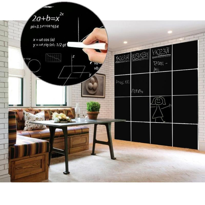 8Pcs Removable Blackboard Stickers Wall Decals Home Office Decorative Black Board Chalkboard Sticker Schook Supplies 30*20cm