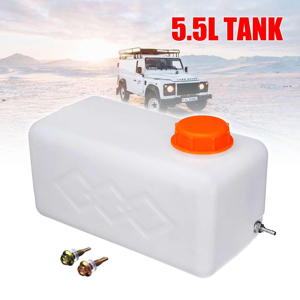 Kraftstoff Tank 5.5L Öl Benzin Diesels Benzin Kunststoff Storge Kanister Wasser Tank Boot Auto Lkw Parkplatz Heizung Zubehör
