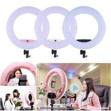 Estúdio de fotografia ao vivo FD 480II 96w led anel de vídeo luz lâmpada com display lcd espelho de maquiagem para canon nikon sony câmera