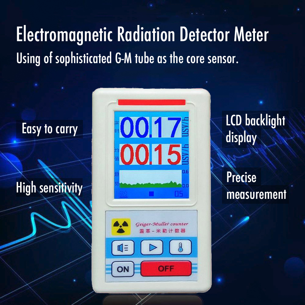 Detector de radioatividade contador geiger do detector de radiação nuclear do contador do geiger do dosímetro de kkmoon