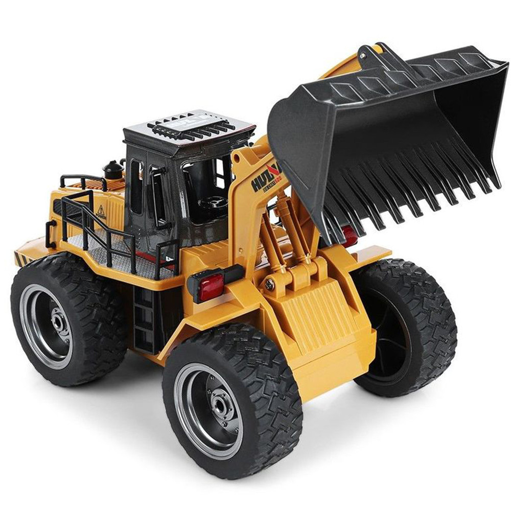 Big RC Truck Huina 583 Metal Bulldozer Alloy Truck Remote Control Toys for Boys Autos Rc Hydraulic Off Road Construction Gift
