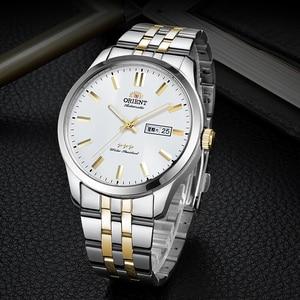 Image 3 - 100% オリジナルオリエント 3 スター腕時計ビジネス自動機械式時計ファッションメンズ腕時計 5 バー耐水性発光手
